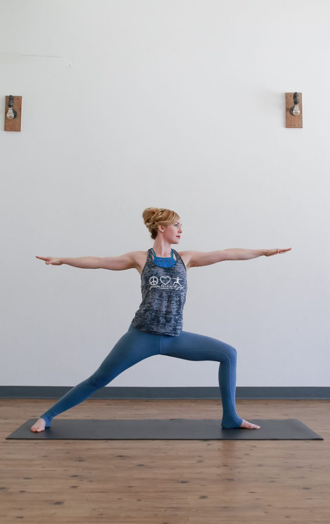 Peace, Love And Yoga in Carlsbad shares the 10 tips to correct your warrior 2.