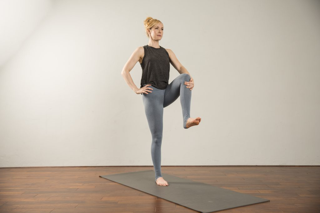 Brittni Barger, Peace, Love And Yoga instructor shares a standing balance sequence.