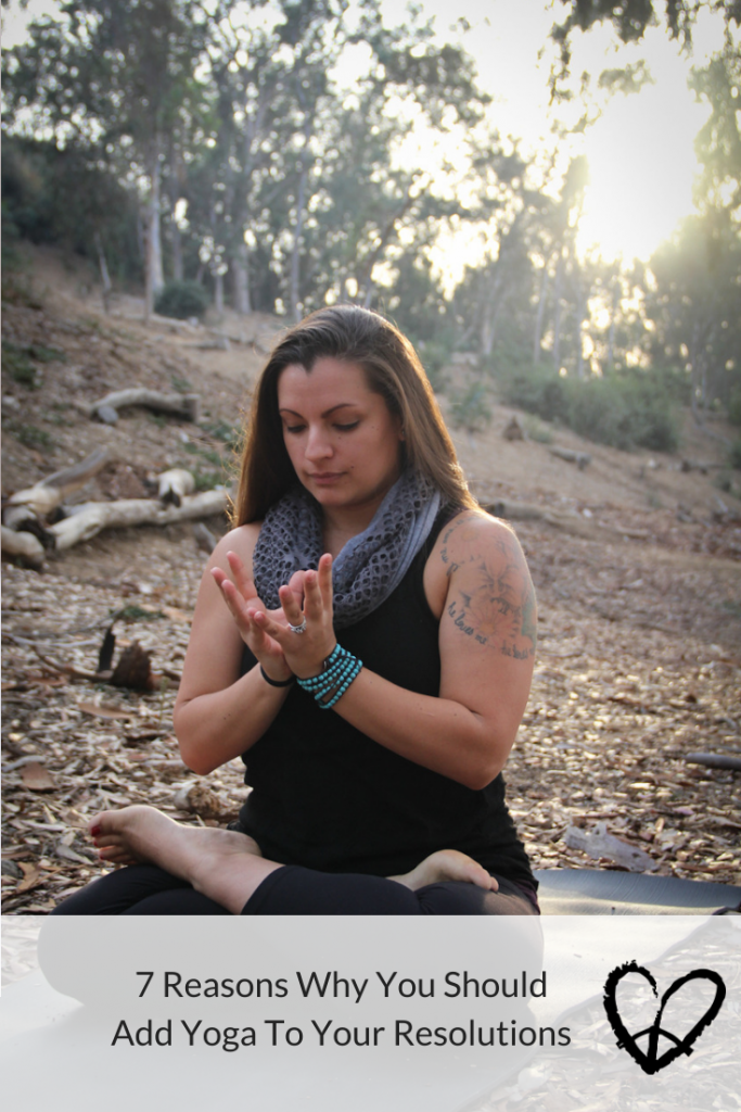 Peace Love And Yoga, a hot yoga studio in Carlsbad California shares 7 reasons why you should add yoga to your resolutions.