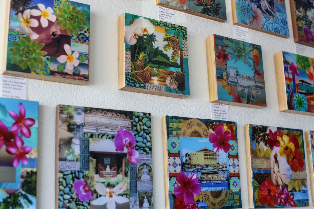 Peace Love And Yoga in Carlsbad California shares their Artist Spotlight featuring Jill Shaw, Jeri Miller, and Susan French.